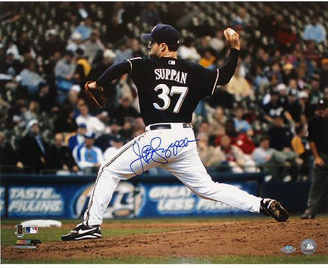 Jeff Suppan Brewers side view pitching 16X20