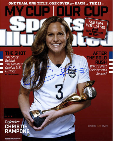 Christie Rampone Signed 2015 World Cup Sports Illustrated Magazine 16x20 Photo