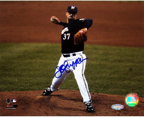 Jeff Suppan Brewers front view pitching 8x10