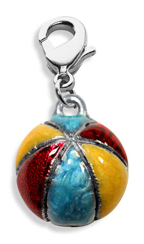 Beach Ball Charm Dangle in Silver - Whimsical Gifts - Dropship Direct Wholesale
