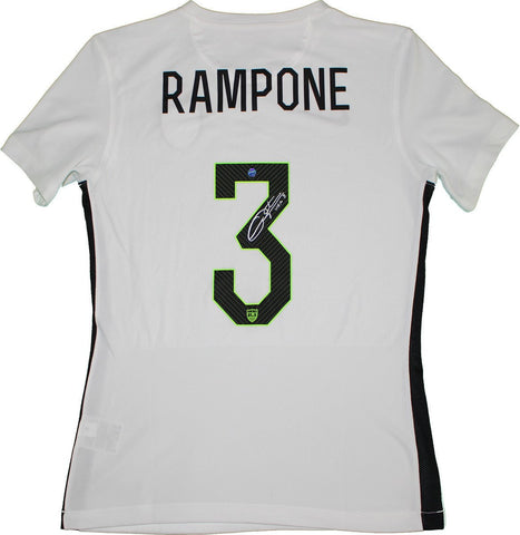 Christie Rampone Signed USA Womens Home White Nike Star Jersey