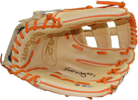 David Wright Signed Wilson Game Model WTA2K Glove MLB Auth