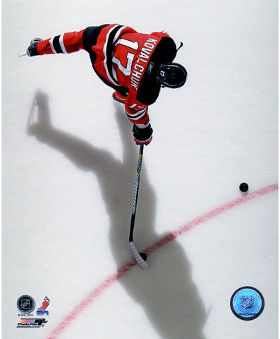 Ilya Kovalchuk New Jersey Devils Red Jersey Overhead 8x10 Photo uns Gettynbr 96772661- PF