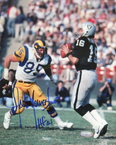 Jack Youngblood Signed 8x10 Photo w/ HOF Insc