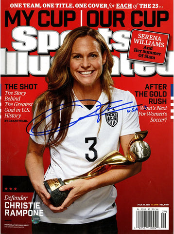 Christie Rampone Signed 2015 Womens World Cup Sports Illustrated Magazine