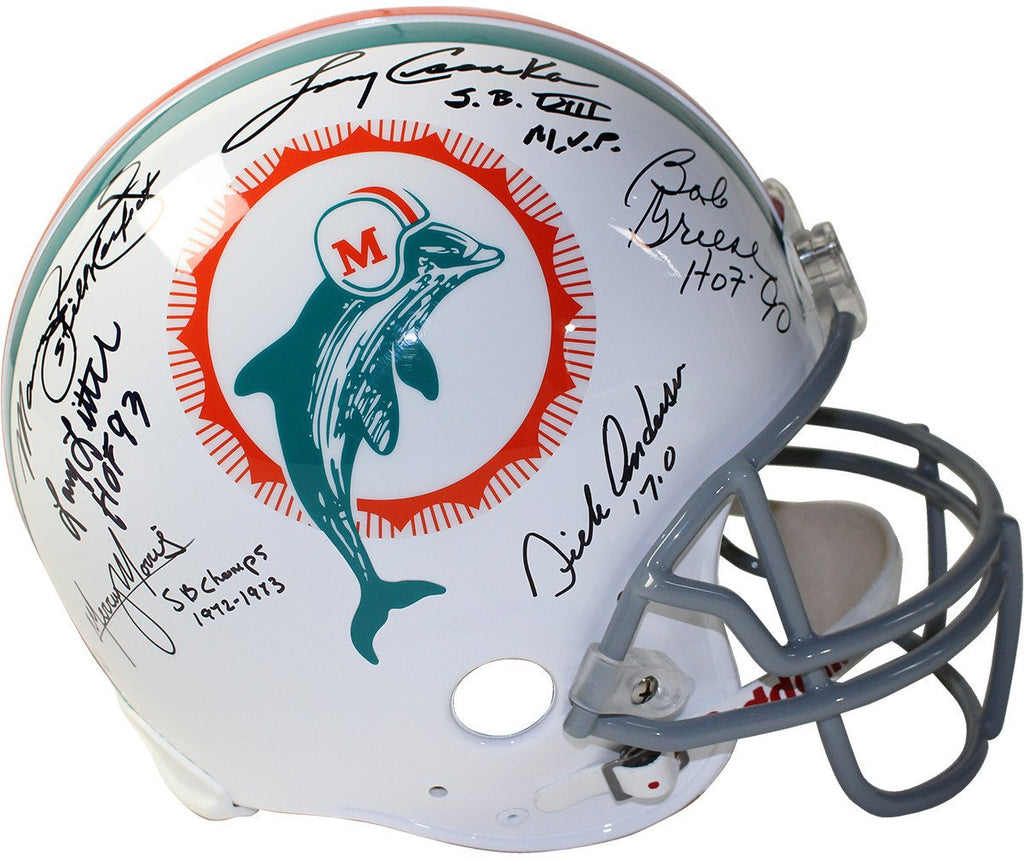1972 Dolphins 6 Signature Authentic Helmet Signed and Inscribed by  Csonka Griese  Fernandez  48eed82f0
