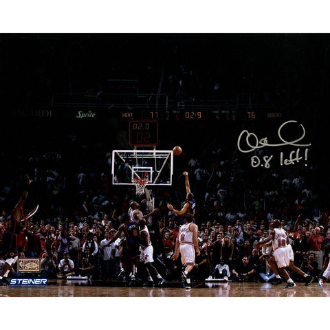 Allan Houston Signed Knicks Game Winning Shot 8x10 Photo w/ 08 Left Insc L/E of 20