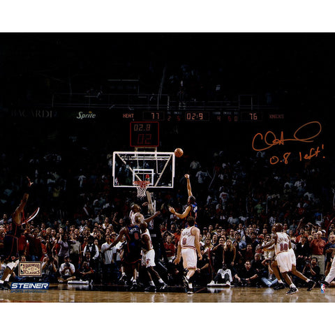 Allan Houston Signed Knicks Game Winning Shot 16x20 Metallic Photo w/ 08 Left Insc L/E of 20
