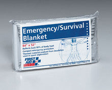 Emergency blanket- 52 in. x84 in. - 5 per dispenser box - First Aid Only - Dropship Direct Wholesale