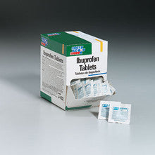 Ibuprofen- 250 2-packs- 500 tablets per dispenser box - First Aid Only - Dropship Direct Wholesale