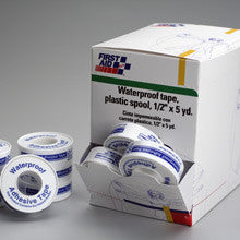 First Aid Only : 1/2 in. x5 yd Waterproof tape w/plastic spool- 36 per dispenser box - First Aid - Wholesale Dropship Fulfillment