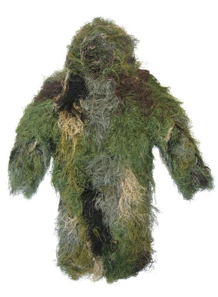 Ultra-Light Long Ghillie Jacket Medium-Large Woodland - BushRag - Dropship Direct Wholesale