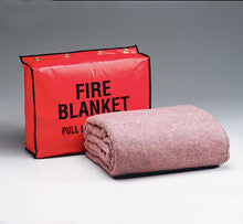 Fire retardant blanket- 62 in. x80 in. - (70% wool- 30% man-made fibers)- and 13.5 in. x17.5 in. x4 in. vinyl - First Aid Only - Dropship Direct Wholesale
