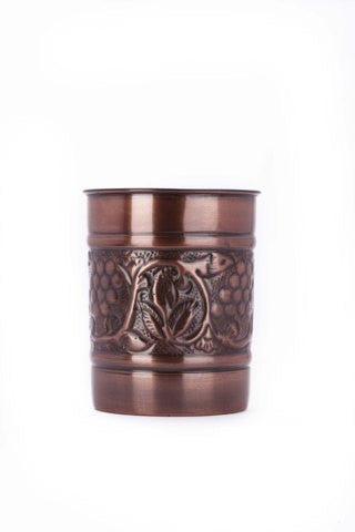 4.5 x 6 Antique Copper Embossed Heritage Tool Caddy - Old Dutch - Dropship Direct Wholesale