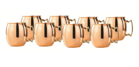 2 oz. Solid Copper Moscow Mule Shot Mugs - Set of 8 - Old Dutch - Dropship Direct Wholesale