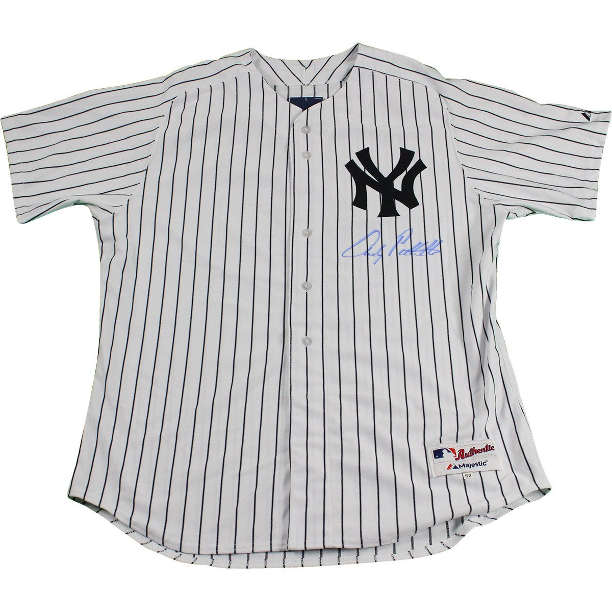 Andy Pettitte Signed Authentic New York Yankees White Home Jersey Signed In Front