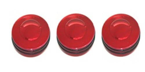 All Sales Interior Dash Knobs (set of 3)- O-ring Red - AMI - Dropship Direct Wholesale
