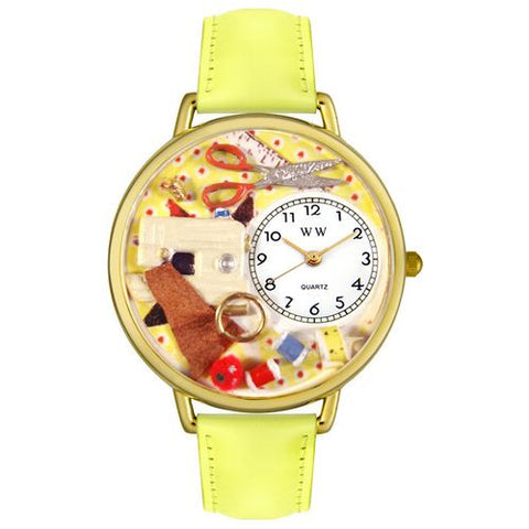 Sewing Watch in Gold (Large) - Whimsical Gifts - Dropship Direct Wholesale
