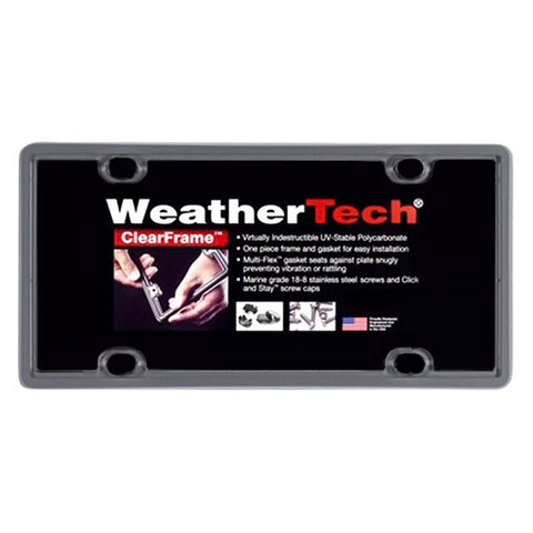 Beluga Grey ClearFrame License Plate Frame - WeatherTech - Dropship Direct Wholesale
