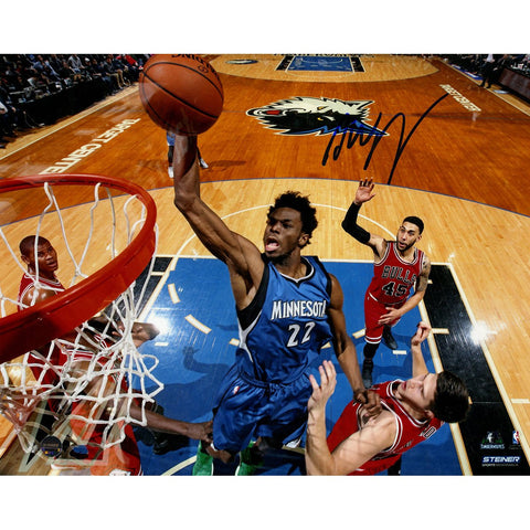 Andrew Wiggins Signed Dunk vs Bulls 8x10 Photo