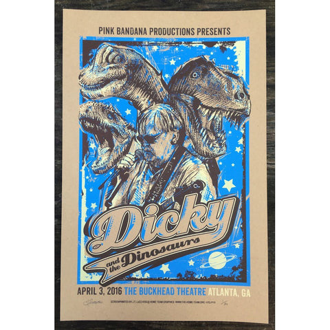"""Dicky & The Dinosaurs"" Official Atlanta Event Poster"