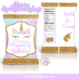 12 Unicorn Chip Bags *Chips Included*
