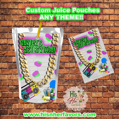 Custom Juice Pouches