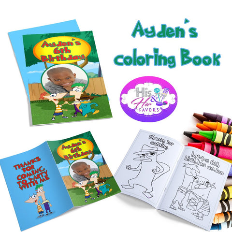 12 Custom Coloring Books