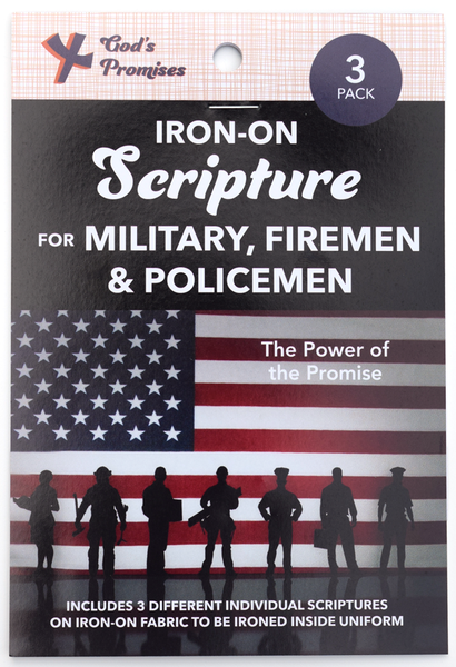 Iron-on Scripture for Military, Fireman, Policemen