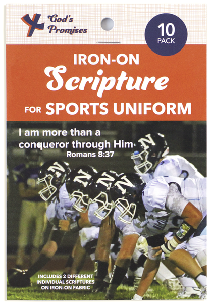 iron on scripture, iron on bible verse, sports uniform scripture