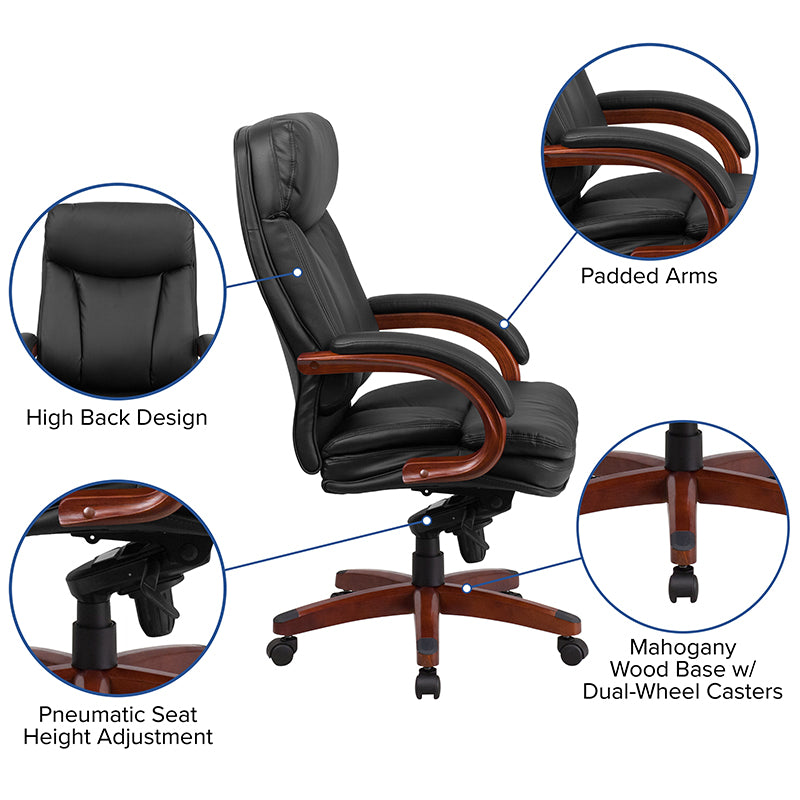 High Back Black LeatherSoft Executive Ergonomic Office Chair
