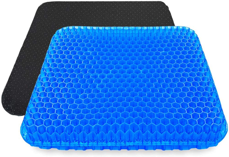 "Honeycomb Design Gel Seat Cushion for Office Chair- 16.5""W x 14.5""L x 1.6""H"