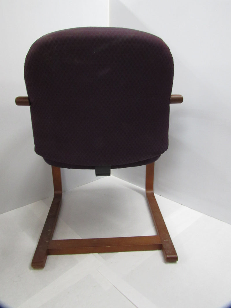 Plum Fabric/Wood Guest Chair - Value Office Furniture & Equipment