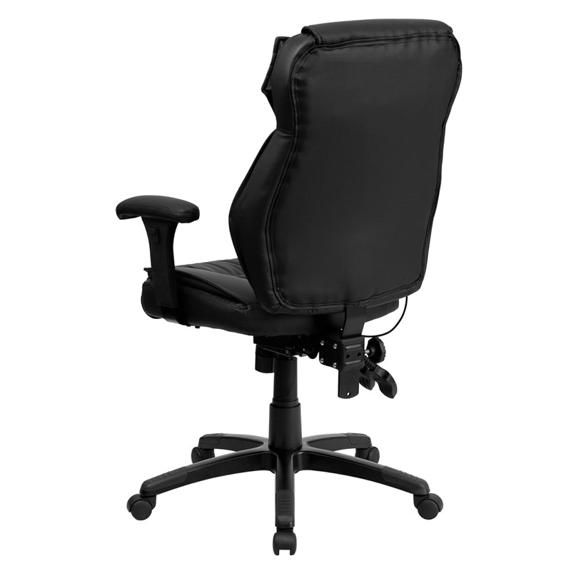 High Back Black LeatherSoft Multifunction Executive Chair