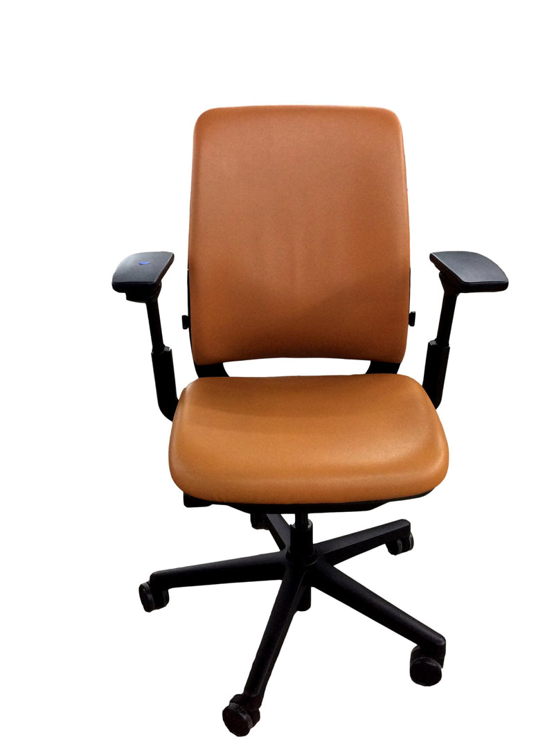 Steelcase Amia - Orange Leather