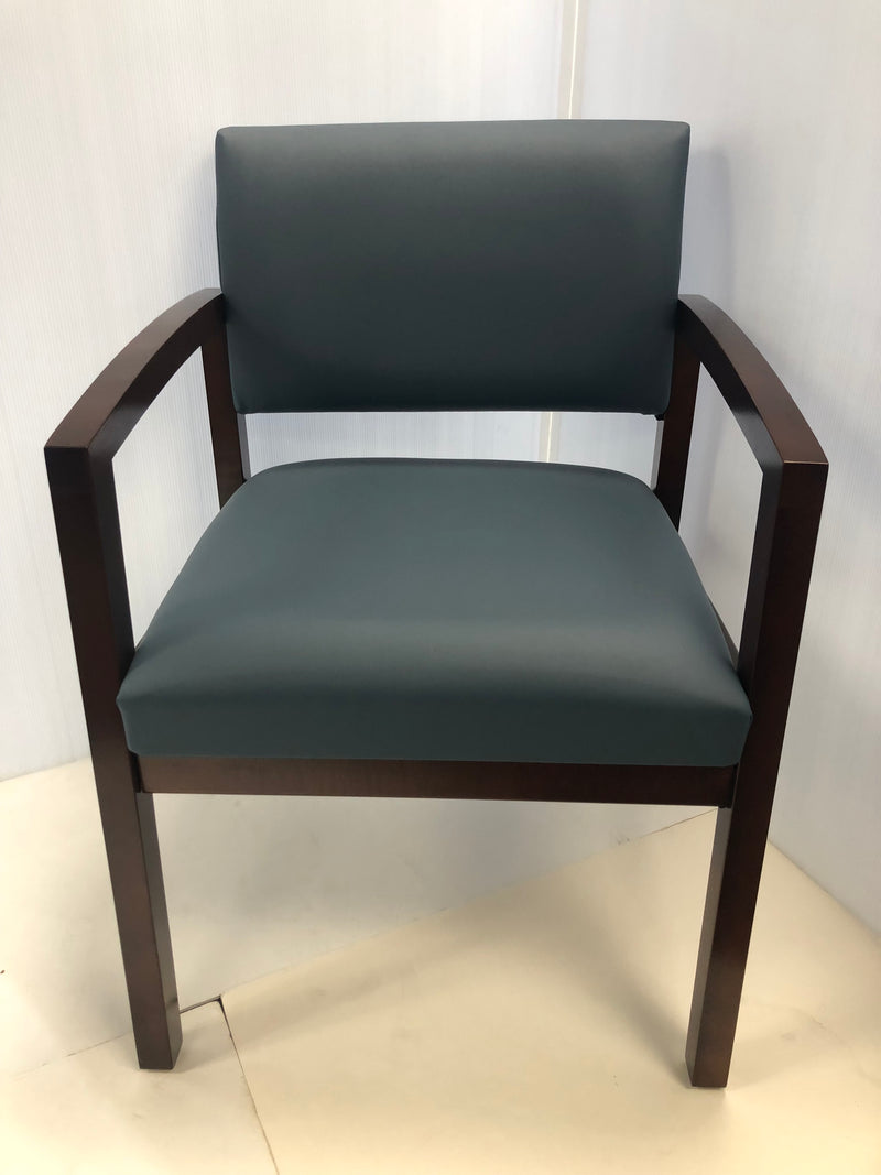 High End Lesro Wood Office Guest/Side Chair