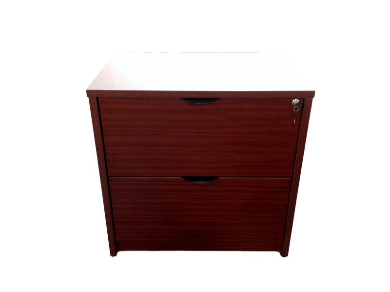 Candex Mahogany 2 Drawer Lateral File