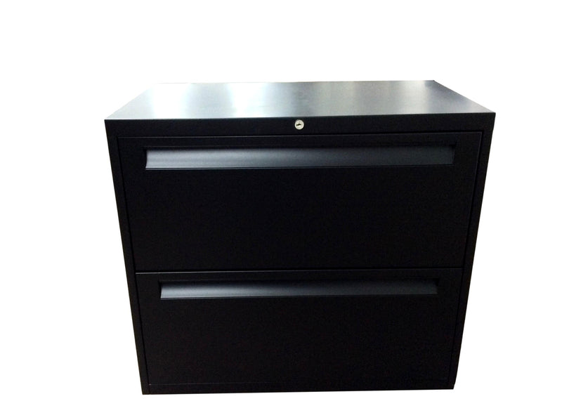 "Black 2 Drawer Lateral File (New Paint) - 30""W x 18""D x 27 3/4""H"