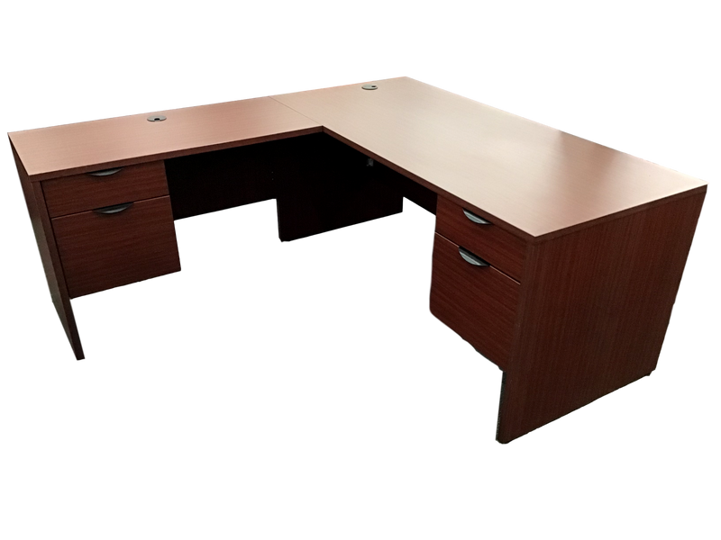 Candex Mahogany Laminate L Shape Desk