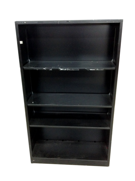 Black Metal Bookcase Mid Height