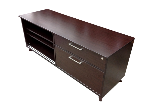 Espresso Two Drawer Cabinet