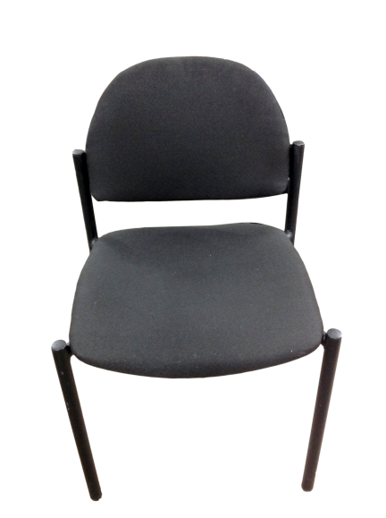 Black Fabric Guest Chair With Black Frame