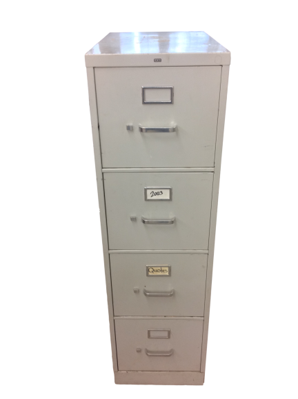 Hon 4 Drawer Vertical File in Gray