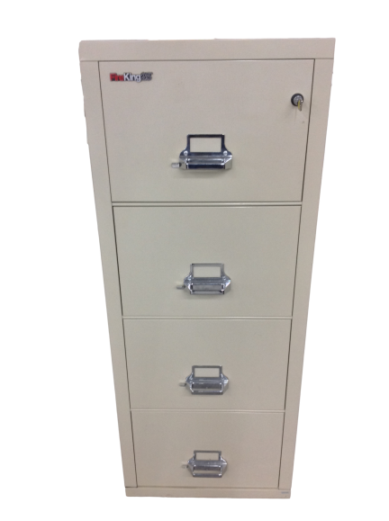 "FireKing 25""D Vertical 4-Drawer Letter-Size File Cabinet - Half Price Of New"