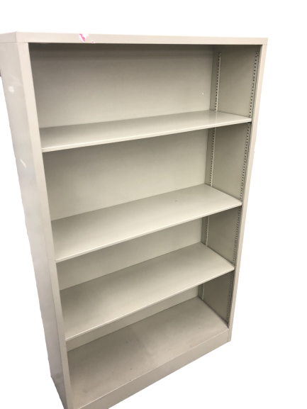 Metal Bookcase in Putty Finish