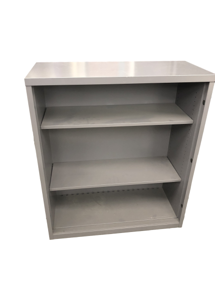 Grey Metal Bookcase