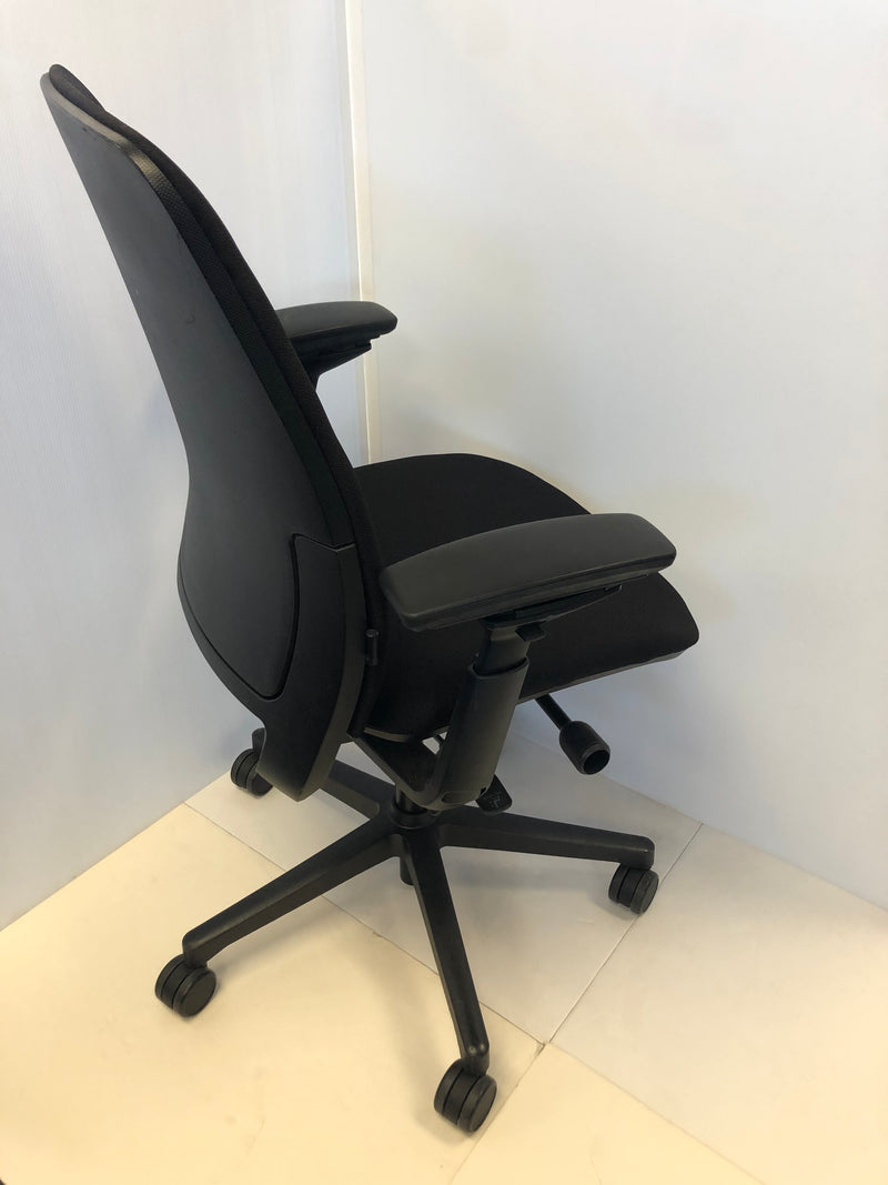 Steelcase Amia Chair Reupholstered in Black