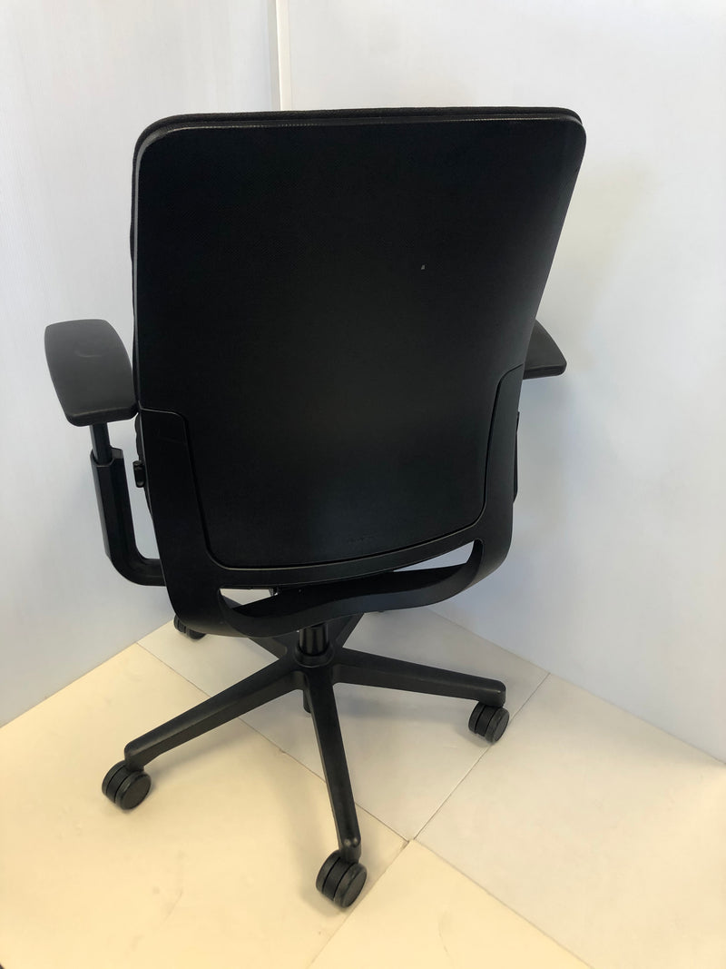 Steelcase Amia Chair Reupholstered in Black - Value Office Furniture & Equipment