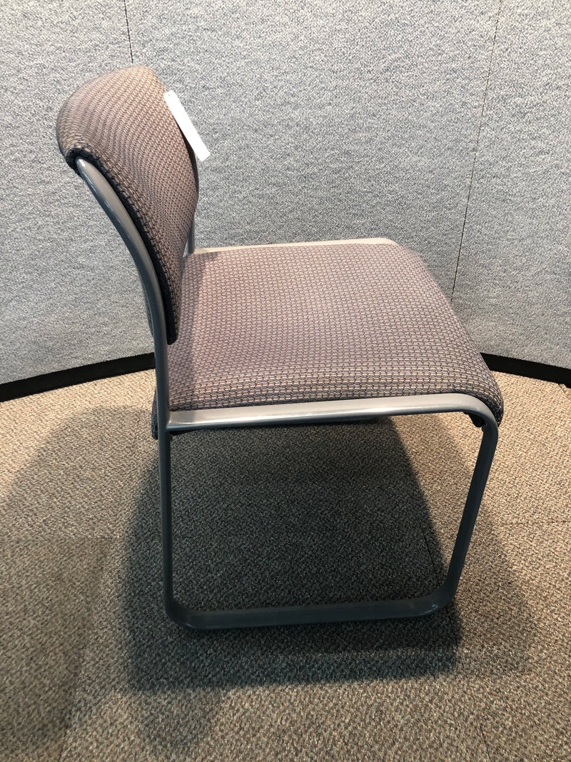 Used Guest Chair in Grey Fabric Armless - Value Office Furniture & Equipment