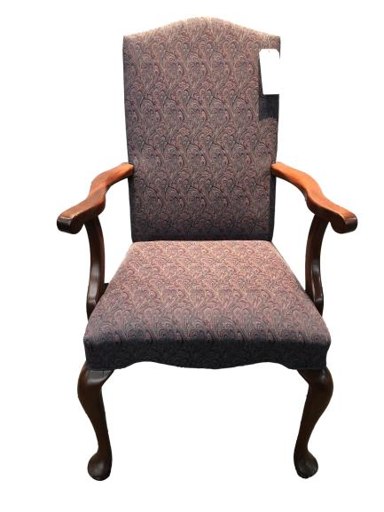 Floral Pattern Fabric High Back Executive Lounge Chair